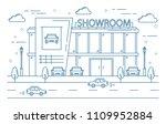 auto showroom line building pn... | Shutterstock .eps vector #1109952884
