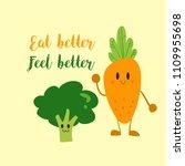 vector of vegetable carrot ...   Shutterstock .eps vector #1109955698