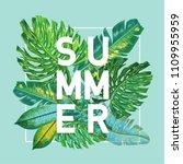 hello summer tropical design... | Shutterstock .eps vector #1109955959