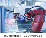 robotic arm machine tool at... | Shutterstock . vector #1109959118