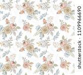 elegant floral background... | Shutterstock .eps vector #1109966690