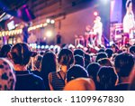 people at life concert. crowd... | Shutterstock . vector #1109967830