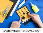 child makes card with spiders... | Shutterstock . vector #1109969429
