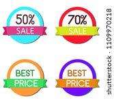 set of discount gorgeous vector ... | Shutterstock .eps vector #1109970218
