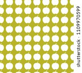 apples seamless pattern vector... | Shutterstock .eps vector #1109970599
