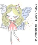 a small  pretty fairy with a... | Shutterstock .eps vector #1109971829