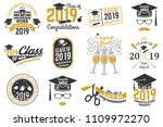 set of vector class of 2019... | Shutterstock .eps vector #1109972270