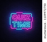 quiz time announcement poster... | Shutterstock .eps vector #1109972750