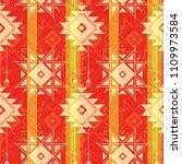 red tribal seamless pattern ... | Shutterstock .eps vector #1109973584