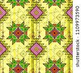 tribal seamless pattern  aztec... | Shutterstock .eps vector #1109973590