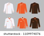 black white and brown chef... | Shutterstock .eps vector #1109974076