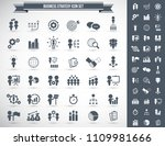 business strategy icons set. | Shutterstock .eps vector #1109981666