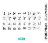 text tools vector icons set
