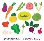 set of vegetables hand drawn... | Shutterstock .eps vector #1109985179