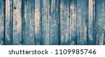 grunge blue wood texture with... | Shutterstock . vector #1109985746