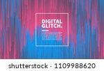 digital glitch effect vector... | Shutterstock .eps vector #1109988620