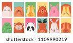 collection of colorful card... | Shutterstock .eps vector #1109990219