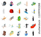 individual icons set. isometric ...   Shutterstock . vector #1109993288