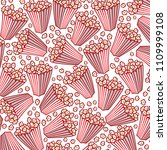 background pattern with popcorn ... | Shutterstock .eps vector #1109999108