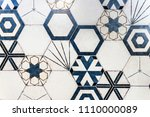 hexagonal colorful modern... | Shutterstock . vector #1110000089