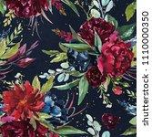 flowers bouquet arrangement on... | Shutterstock . vector #1110000350