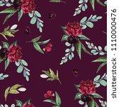 flowers bouquet arrangement on...   Shutterstock . vector #1110000476