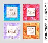 design templates for flyers ... | Shutterstock .eps vector #1110005690