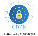 concept of general data... | Shutterstock .eps vector #1110007940