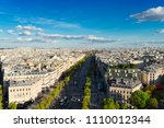 the avenue des champs elysees... | Shutterstock . vector #1110012344