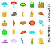 autumn icons set. cartoon set... | Shutterstock . vector #1110012539