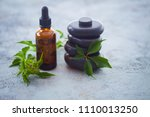aromatherapy oil with fresh... | Shutterstock . vector #1110013250