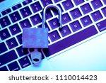 a computer programmer or hacker ... | Shutterstock . vector #1110014423