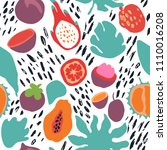 minimal summer trendy vector... | Shutterstock .eps vector #1110016208