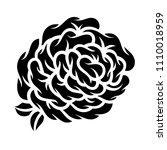 flower rose  black and white.... | Shutterstock .eps vector #1110018959
