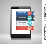infographic elements on... | Shutterstock .eps vector #1110019979