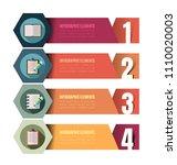 iinfographic template. minimal... | Shutterstock .eps vector #1110020003