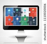 computer screen illustration... | Shutterstock .eps vector #1110020006