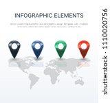 vector world map illustration... | Shutterstock .eps vector #1110020756