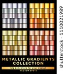 gold  silver  bronze gradient... | Shutterstock .eps vector #1110021989
