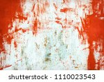 abstract old rusty metal steel... | Shutterstock . vector #1110023543
