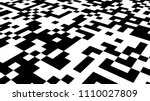 qr barcode sticker isolated on... | Shutterstock . vector #1110027809