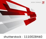 abstract technology geometric... | Shutterstock .eps vector #1110028460