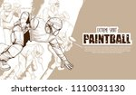 illustration of paintball... | Shutterstock .eps vector #1110031130