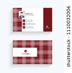 business card template. red... | Shutterstock .eps vector #1110032006