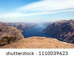 photo of preikestolen  pulpit... | Shutterstock . vector #1110039623