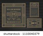 wedding invitation card vector... | Shutterstock .eps vector #1110040379