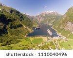 photo of geiranger fjord area ... | Shutterstock . vector #1110040496