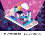 hotel booking app mobile... | Shutterstock .eps vector #1110040700