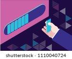deadline  work in progress... | Shutterstock .eps vector #1110040724