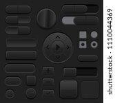 black interface buttons. 3d set ...